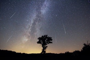 звездное небо звездопад