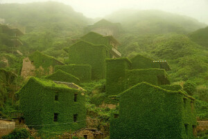заброшенная рыбацкая деревня в китае